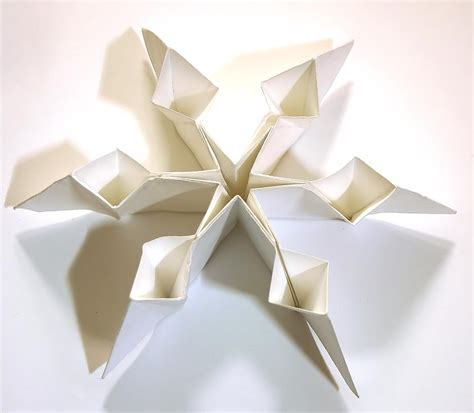 snowflake origami easy resources origami infinity