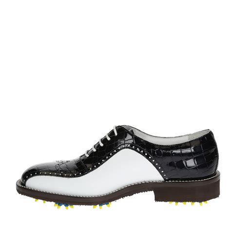 Handmade Shoes In - made golf shoes in genuine calf leather leonardo