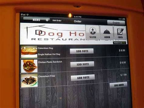 dog house restaurant menu ipad menu cool idea but much less practical than hard copy picture of d dog house