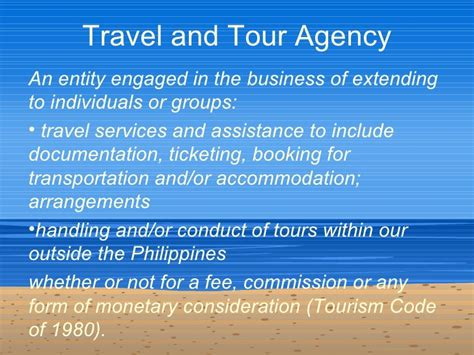 Introduction Letter Of Travel Agency 02 Travel Agencies And Tour Operators An Introduction