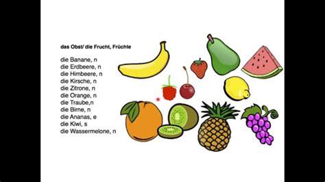 fruit in german german word for food recipes food