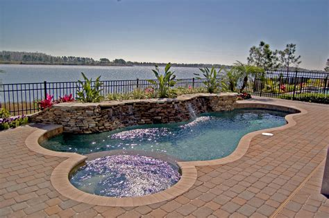 Outdoor Pool Designs See How Easily You Can Add A Spa To Your Existing Pool