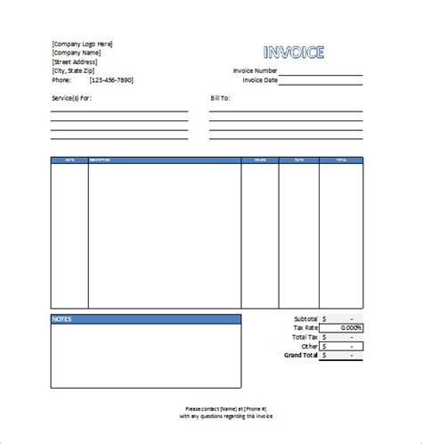 Invoice Template 53 Free Word Excel Pdf Psd Format Download Free Premium Templates Professional Services Template