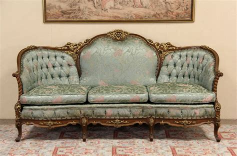 sold french style carved  vintage sofa original harp gallery