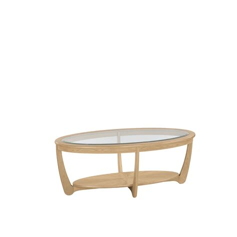 Oval Coffee Table Nathan Shades Oak Glass Top Oval Coffee Table Coffee Tables Cookes Furniture