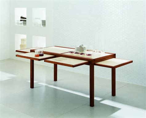 Expandable Kitchen Table by Cool Expandable Coffee And Dining Tables By Sculrtures