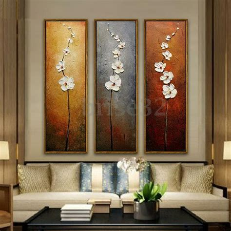 pcs colorful flower canvas abstract painting print art