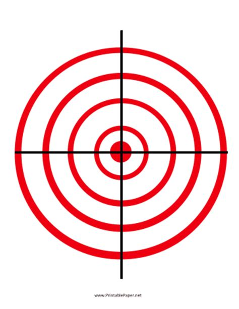 printable paper handgun targets printable red circles target