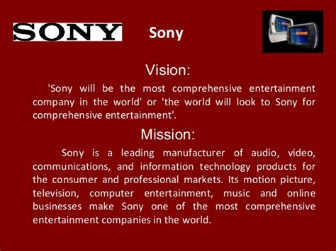 sony vision sony will be