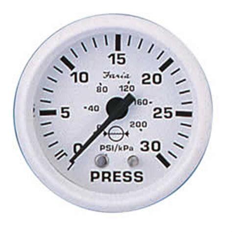 potable water pressure gauge faria 174 dress white series water pressure 183495