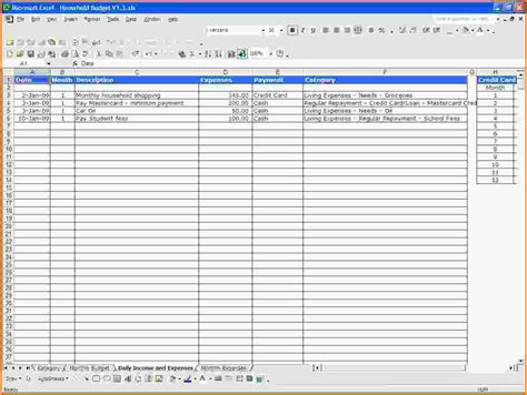 Income And Expense Spreadsheet by Simple Spreadsheet For Income And Expenses Excel