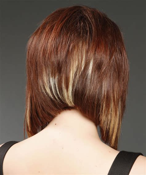 concave shoulder length hair medium straight formal bob hairstyle medium red mahogany