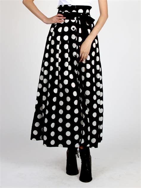 Polka Dot Maxi Skirt polka dot skirt dressed up