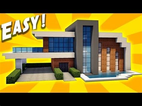 tutorial web easy minecraft easy modern house tutorial how to build a