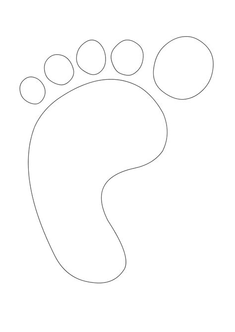 foot template best photos of large footprint template printable