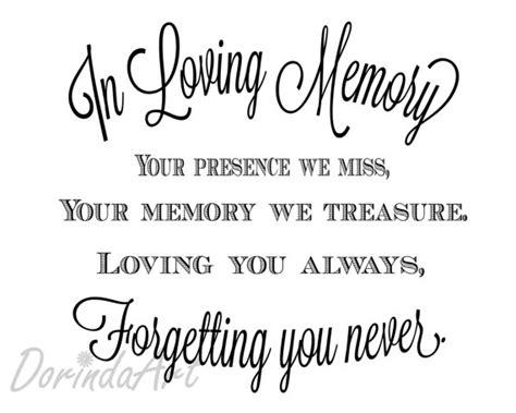 in loving memory of print memorial table wedding by