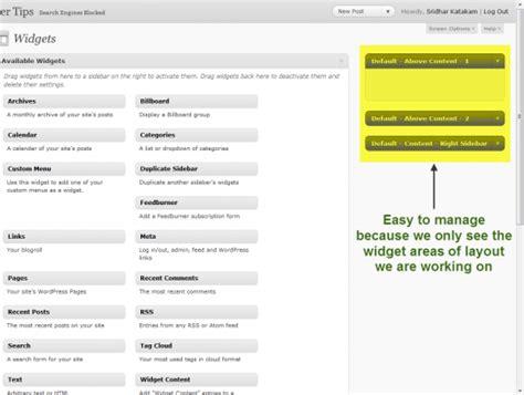 wordpress layout builder widget area builder tip hide widget areas of layouts that you aren t