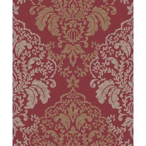 wallpaper large red damask on metallic gold background ebay red gold damask wallpaper www imgkid com the image kid