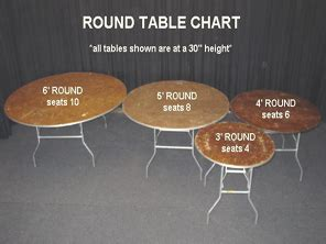 6ft table seats how many 4ft table special event wedding and rental