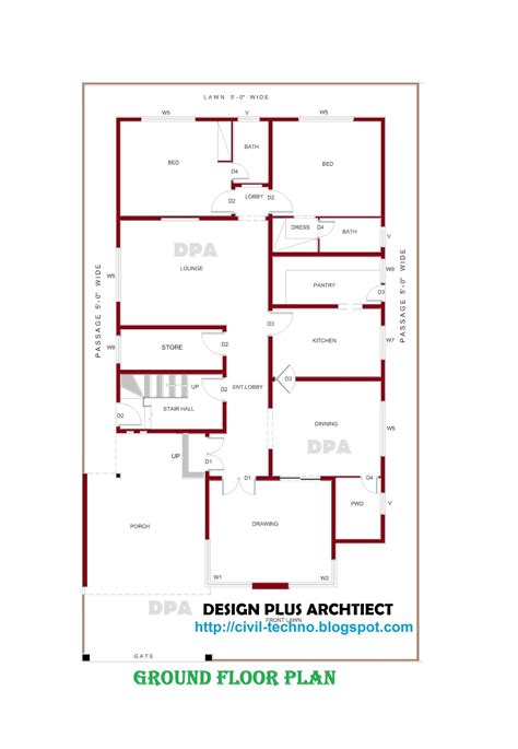 Good 3 Bedroom Hall Kitchen House Plans #4: HOME%2BPLANS.jpg