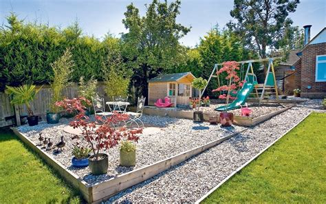 backyard play area landscaping garden inspector how to create a low maintenance garden