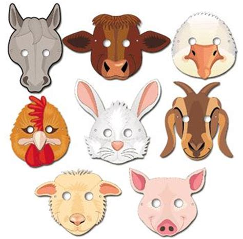 best photos of farm animal mask templates to print free