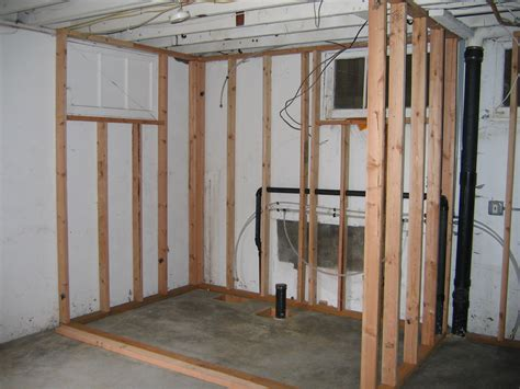 basement wall framing 301 moved permanently