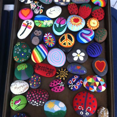 and animal motifs colorful stones applications some designers offer 25 best ideas about painted rocks kids on pinterest