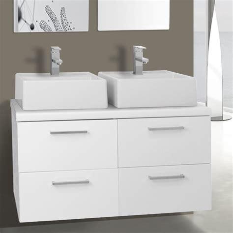 37 Inch Bathroom Vanity by 37 Inch Glossy White Vessel Sink Bathroom Vanity