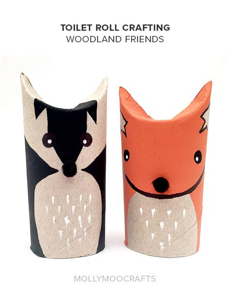toilet roll crafts mollymoocrafts toilet roll crafts woodland friends