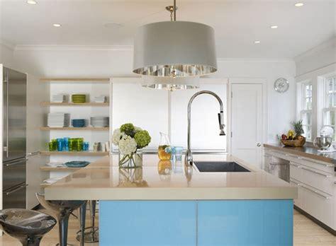 White Kitchen Beige Countertop by Black Kitchen Island With White Quartz Countertop