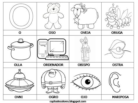 imagenes que inicien con la letra j letra o fer pinterest letras tareas y lenguaje