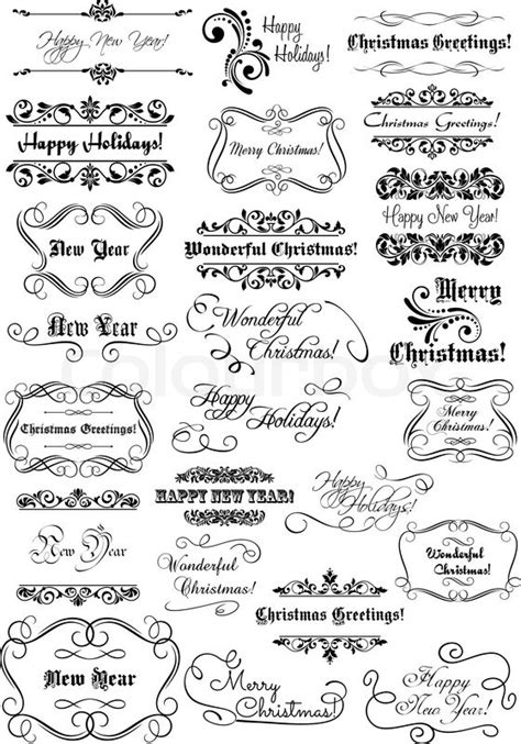 set  merry christmas  happy  year headlines