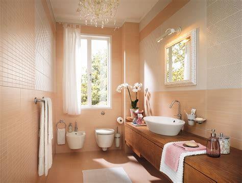 peach bathroom decor peach feminine bathroom decor interior design ideas