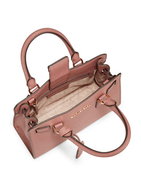 Michael Kors Small Satchel Luggage Ori michael michael kors dillon small leather satchel bag in pink dusty lyst