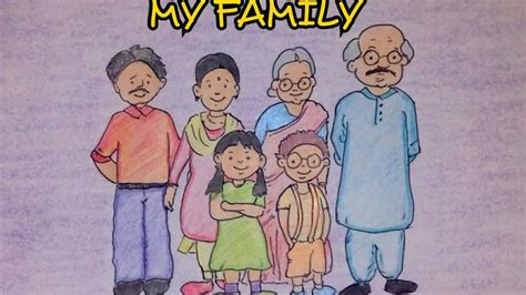 How To Draw My Family Step By Step drawing tutorial drawing on my family step by step