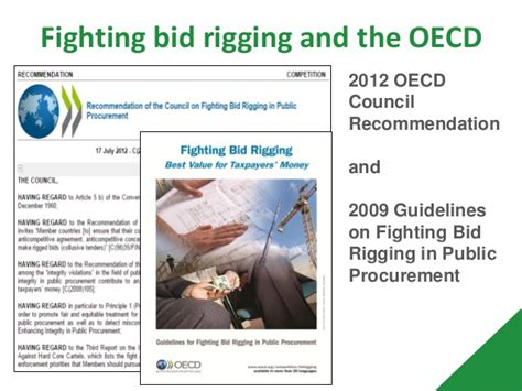 bid rigging fighting bid rigging in procurement a review of