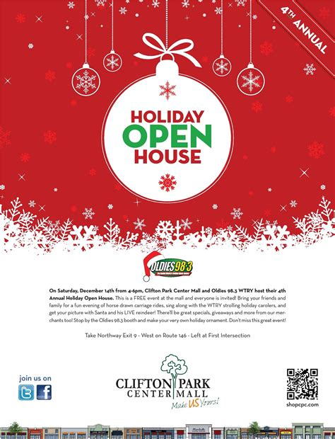 holiday open house clifton park center 4th annual holiday open house