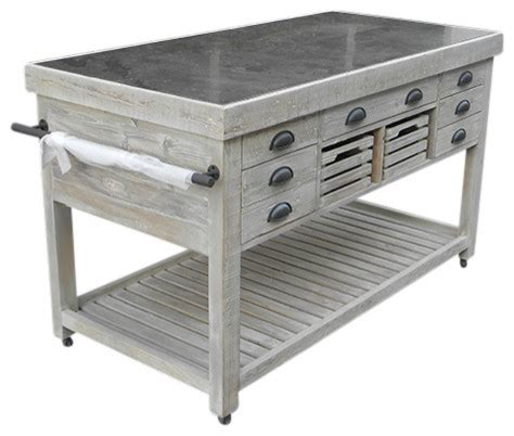 rustic kitchen island with stone top moveable rustic