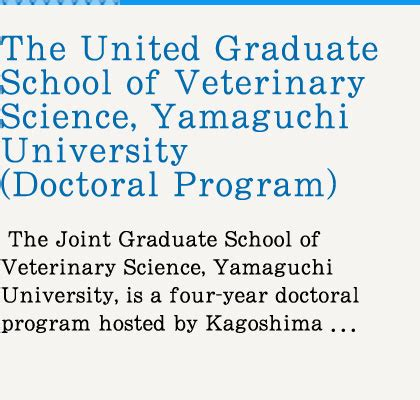 Data Science Mba Combined Grad School by Joint Faculty Of Veterinary Medicine Kagoshima
