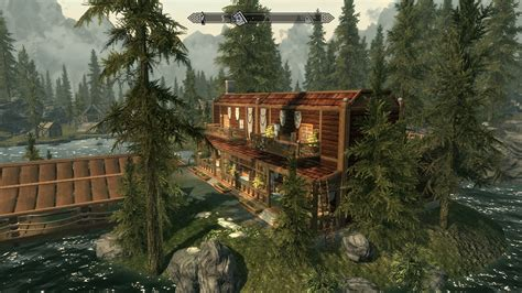 Cabin Ls Rustic by Lakeside Cabin Retreat At Skyrim Nexus Mods And Community