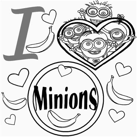 minions valentines coloring pages free coloring pages printable pictures to color kids