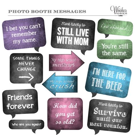 printable photo booth quotes diy photo booth printables chalkboard signs reunion
