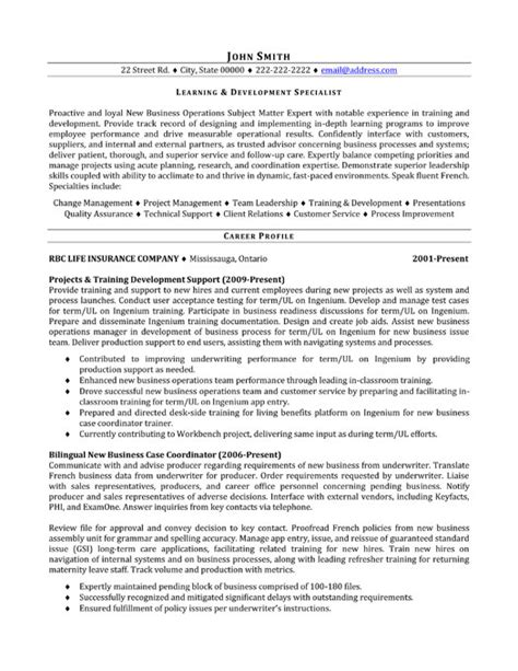 Development Specialist Cover Letter by Learning And Development Specialist Resume Template Premium Resume Sles Exle