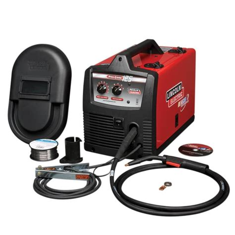 lincoln welder lowes shop lincoln electric 120 volt flux cored wire feed welder