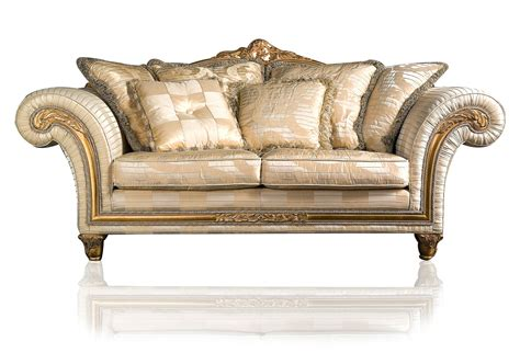 Classic Sectional Sofa Classic Sofa Imperial In Ivory Fabric Vimercati Classic Furniture