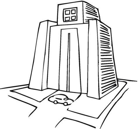 free coloring pages of building skyscrapers