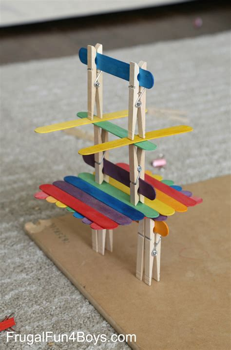 projects with craft sticks 5 engineering challenges with clothespins binder