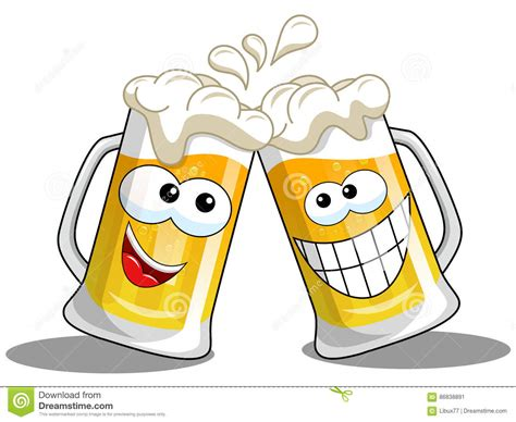 cartoon beer cheers cheers cartoons illustrations vector stock images
