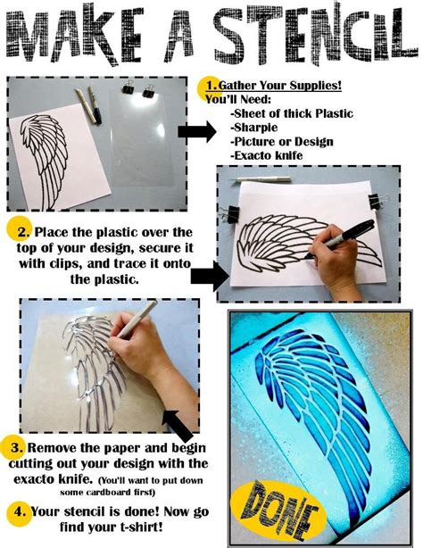 How To Make A Stencil With Tracing Paper - how to make a stencil library program for site also